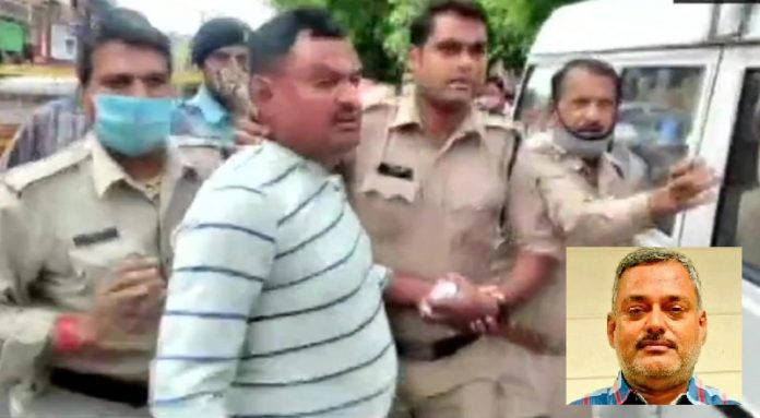 Gangster vikas dubey main accused in kanpur police encounter case arrested